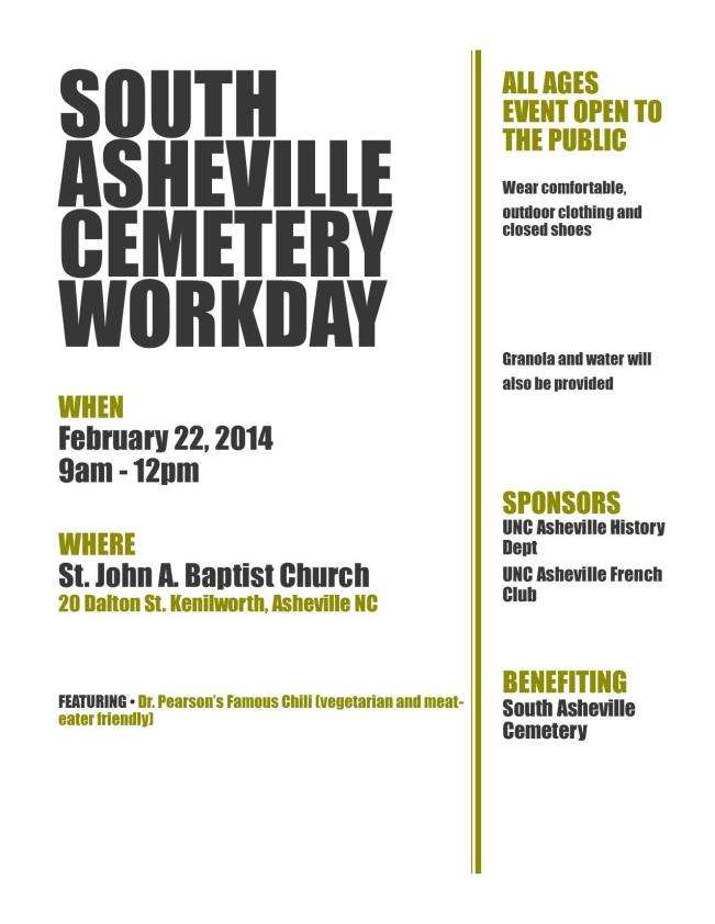 south asheville cemetery work day