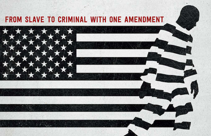 13th film graphic. Mass incarceration.
