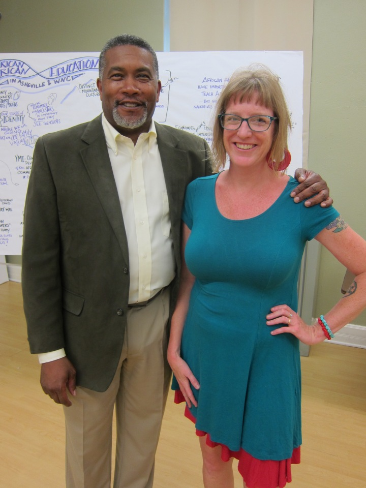Darin Waters, professor of African American history with Ami Worthen