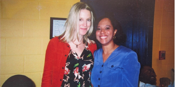 Ami Worthen and Tangie Bowman at the YWCA in Asheville, cultural diversity and community action.