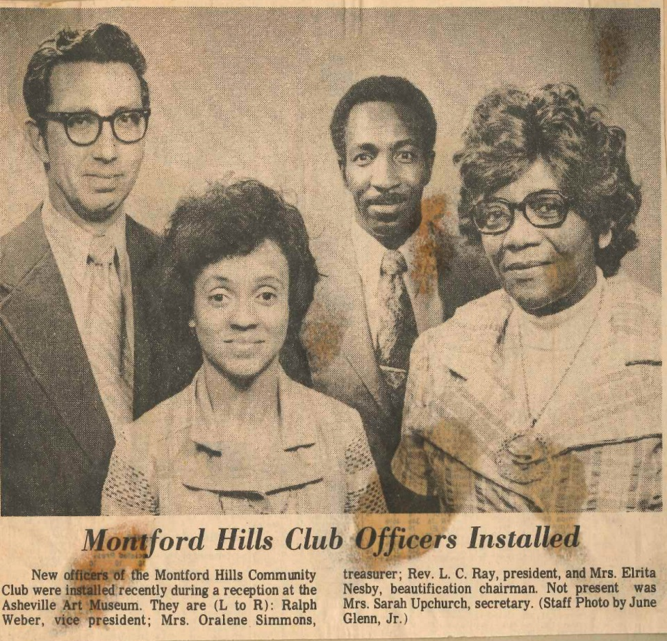 Montford Hills Club Officers 1976