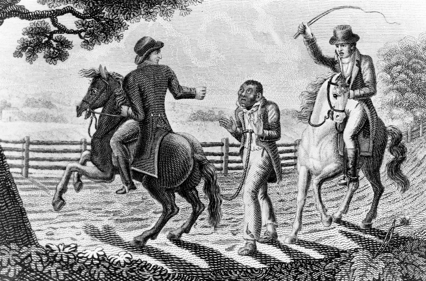 Drawing of a slave patrol