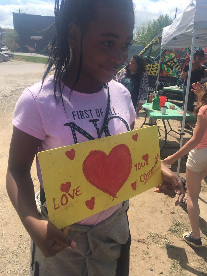 Love, community action, art.