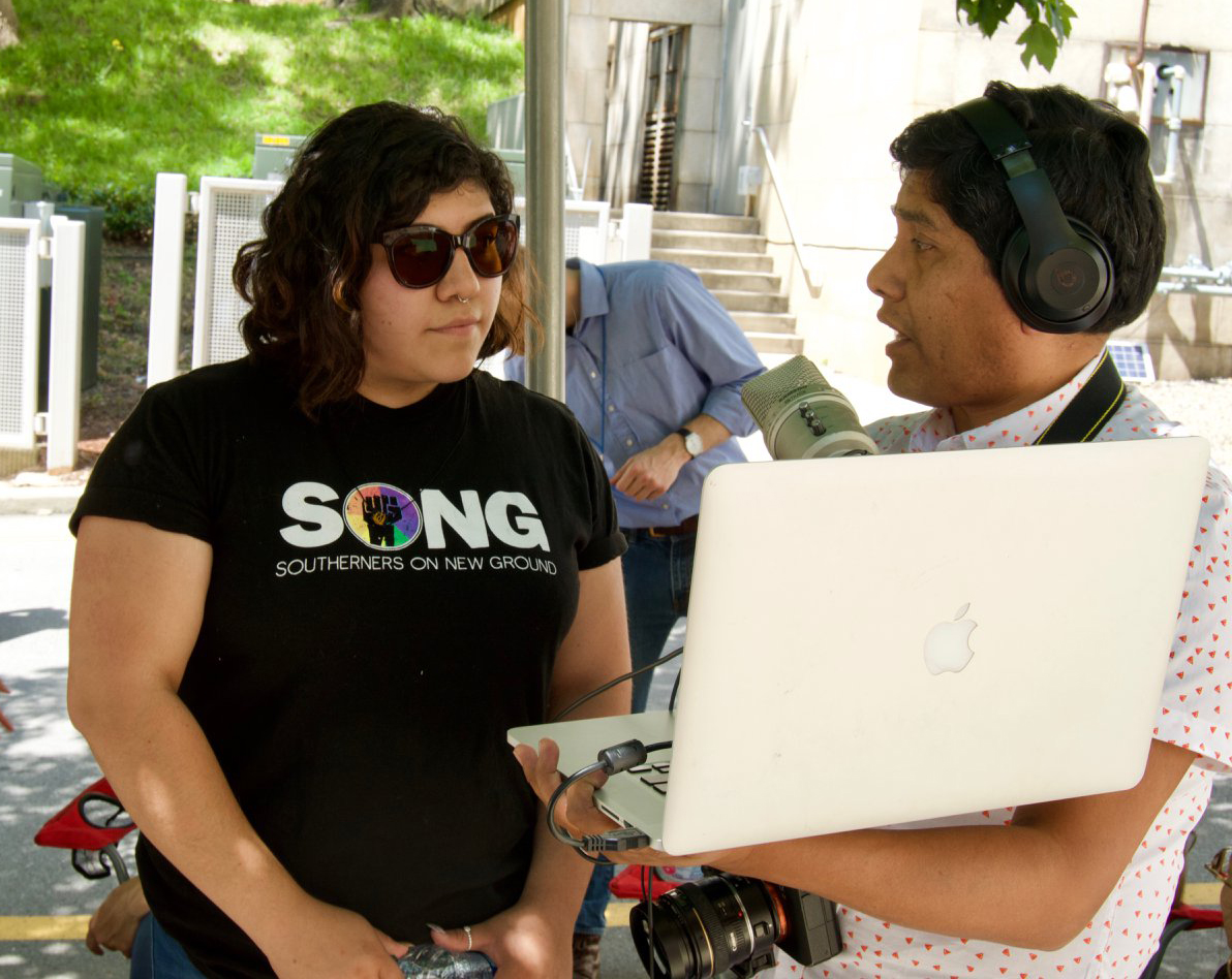 SONG and JMPRO at the Black Mamas Bail Out community action.